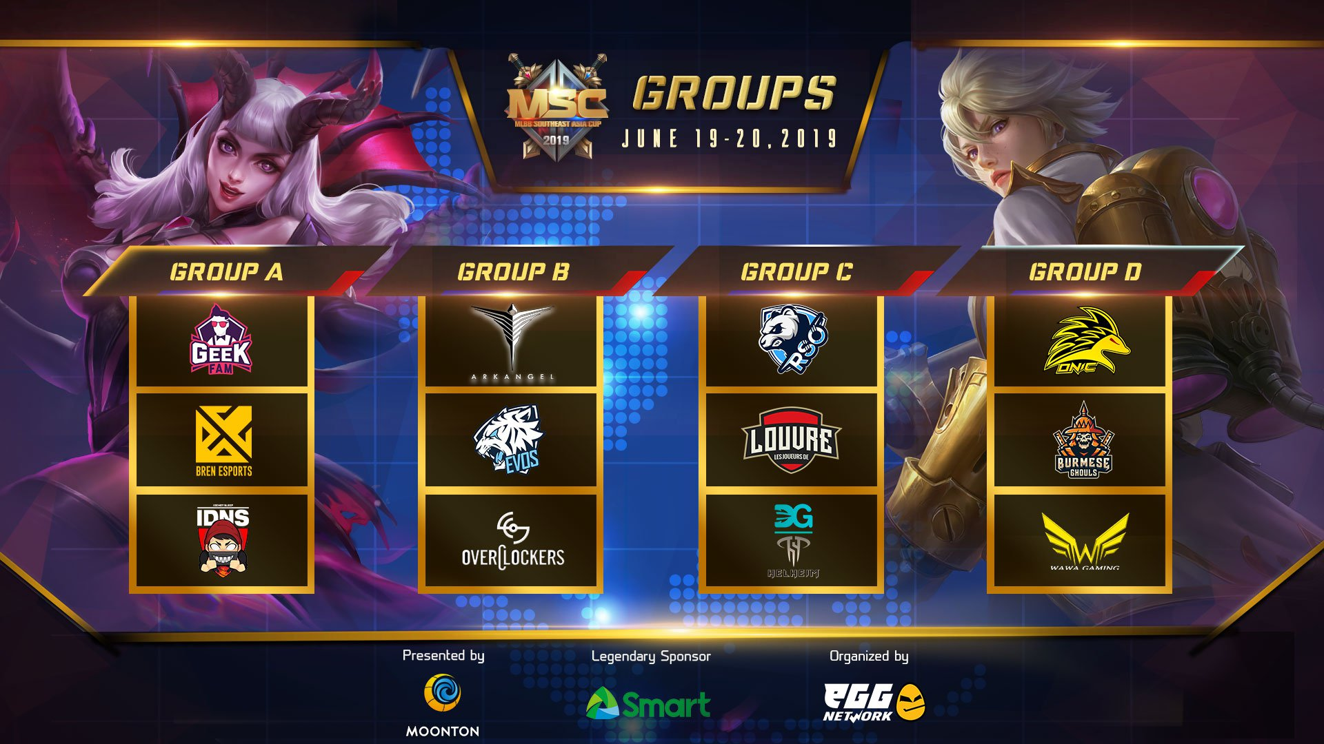 MSC group stage announcement